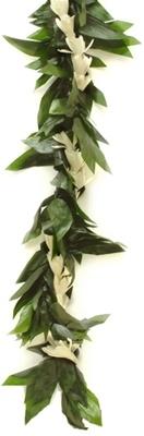 Single Ti Maile & White Orchid Lei
