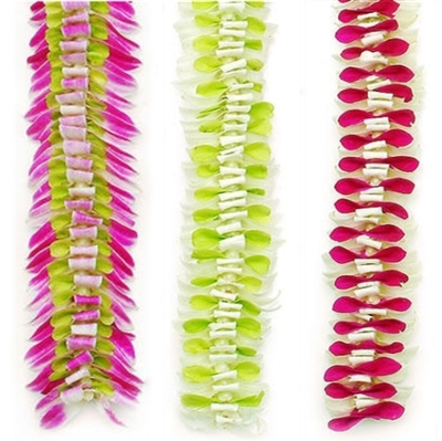 Long lasting, elegant, fragrance free makes the Butterfly lei a perfect choice.