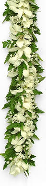 Image Bridal Haku- White and Green